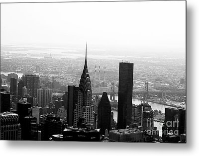 Skyscraper Metal Print by Linda Woods
