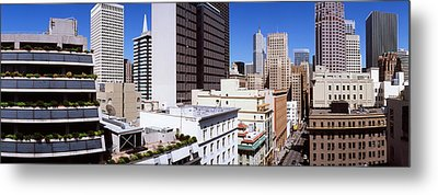 Skyscrapers In A City Viewed From Union Metal Print by Panoramic Images