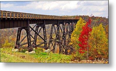 Skywalk Kinzua Bridge State Park Mckean County Pennsylvania Metal Print by A Gurmankin