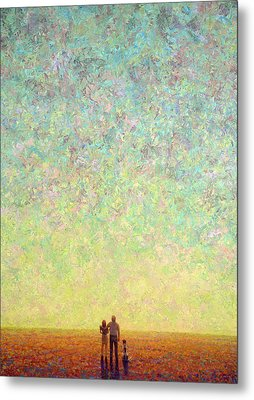 Skywatching In A Painting Metal Print by James W Johnson