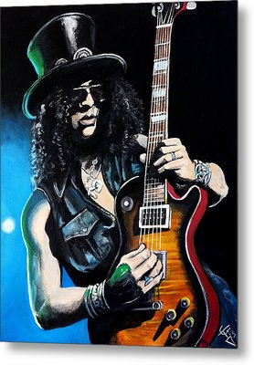 Slash Metal Print by Tom Carlton