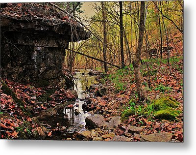 Slate Bottom Creek Metal Print by Benjamin Yeager