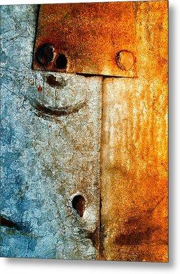 Slate Gray Metal Print by Tom Druin