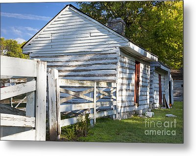 Slave Huts On Southern Farm Metal Print by Brian Jannsen
