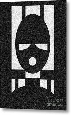 Slave Mask Metal Print