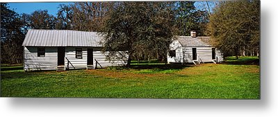 Slave Quarters, Magnolia Plantation And Metal Print by Panoramic Images