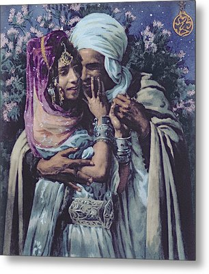Slave To Love Metal Print by Alphonse Etienne Dinet