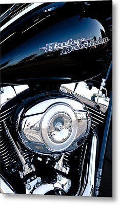 Sleek Black Harley Metal Print by David Patterson
