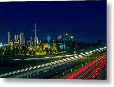Sleeman Brewery At Night Metal Print by Nick Mares