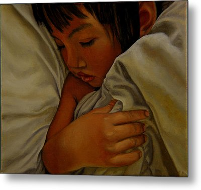 Metal Print featuring the painting Sleep by Thu Nguyen