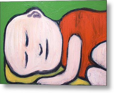 Sleeping Baby Buddha Metal Print by Kazuya Akimoto