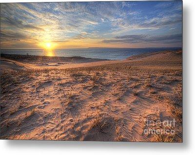 Sleeping Bear Dunes Sunset Metal Print by Twenty Two North Photography