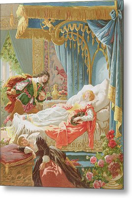 Sleeping Beauty And Prince Charming Metal Print