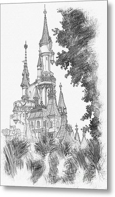 Sleeping Beauty Castle Metal Print