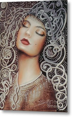Metal Print featuring the painting Sleeping Beauty by Sgn