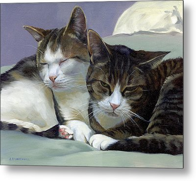 Metal Print featuring the painting Sleeping Buddies by Alecia Underhill