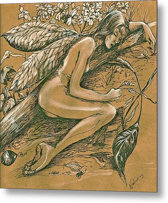 Sleeping Faery Metal Print