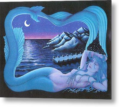 Sleeping Mermaid Metal Print by Bobby Beausoleil