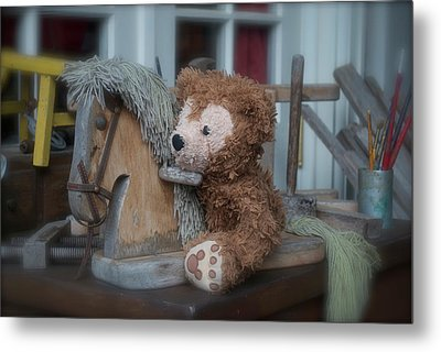 Metal Print featuring the photograph Sleepy Cowboy Bear by Thomas Woolworth