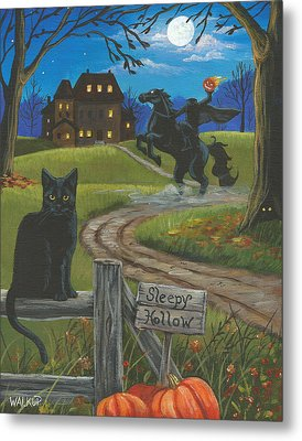 Sleepy Hollow-katrina's Cat Metal Print