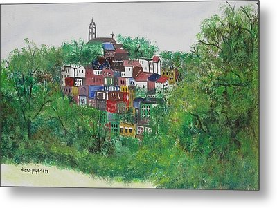 Sleepy Little Village Metal Print