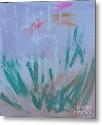 Metal Print featuring the painting Sleepy Pond by PainterArtist FIN