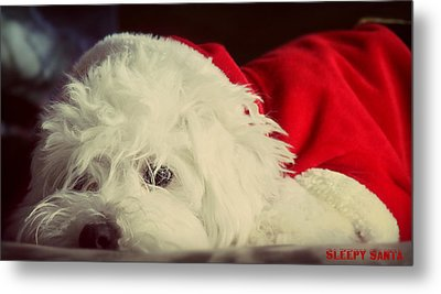 Sleepy Santa Metal Print by Melanie Lankford Photography