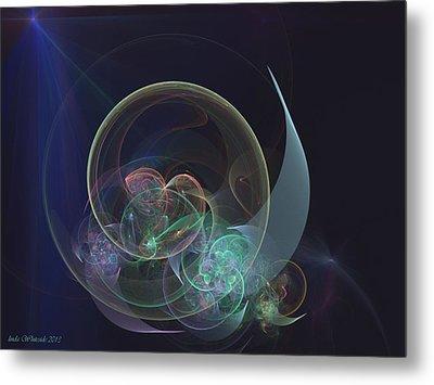Metal Print featuring the digital art Sleepy Time Moon by Linda Whiteside