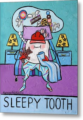 Sleepy Tooth Metal Print by Anthony Falbo