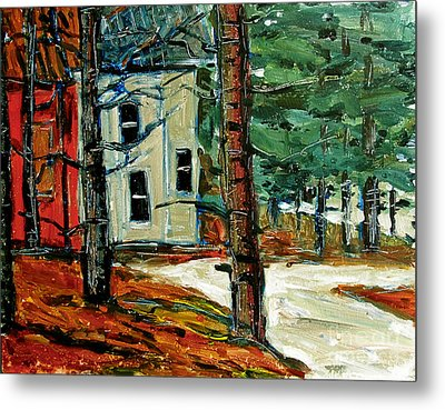 Sleet And Rain At The Mock Place Metal Print by Charlie Spear