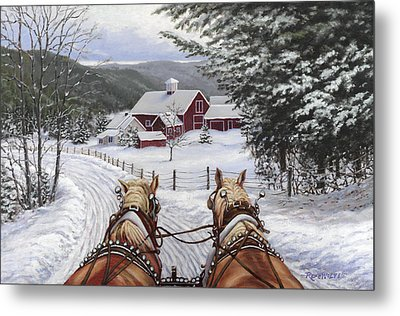 Sleigh Bells Metal Print by Richard De Wolfe