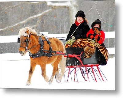 Metal Print featuring the photograph Sleigh Ride by James Kirkikis