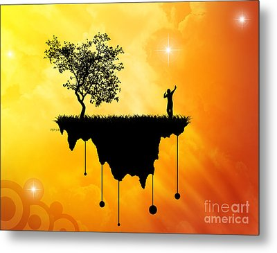 Metal Print featuring the digital art Slice Of Earth by Phil Perkins