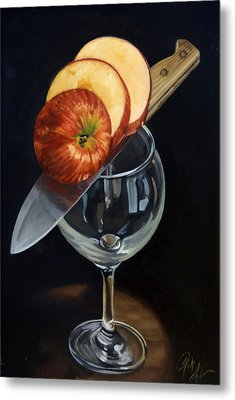 Sliced Apple Metal Print