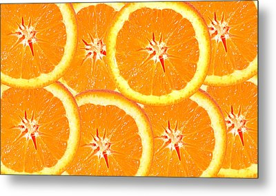 Metal Print featuring the photograph Slices Of Citrus by Cecil Fuselier