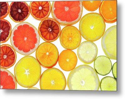 Slices Of Citrus Fruit Metal Print by Cordelia Molloy