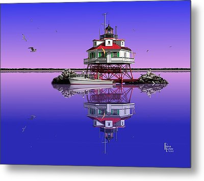 Slick Cam At Thomas Point Metal Print by Patrick Belote