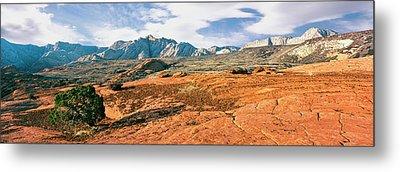 Slickrock, Snow Canyon State Park Metal Print