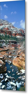 Slide Rock Creek In Wintertime, Sedona Metal Print by Panoramic Images