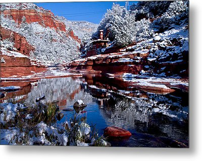 Metal Print featuring the photograph Slide Rock  by Tom Kelly