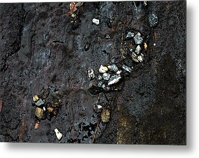Metal Print featuring the photograph Slippery Rock  by Allen Carroll