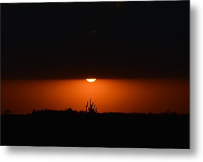 Sliver Of A Sunset Metal Print by Dacia Doroff