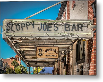 Sloppy Joe's Bar Canopy Key West - Hdr Style Metal Print by Ian Monk
