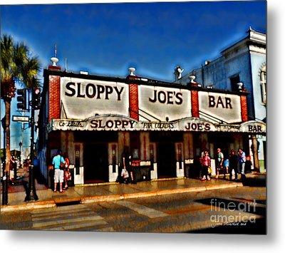 Sloppy Joe's Bar Metal Print by Joan  Minchak
