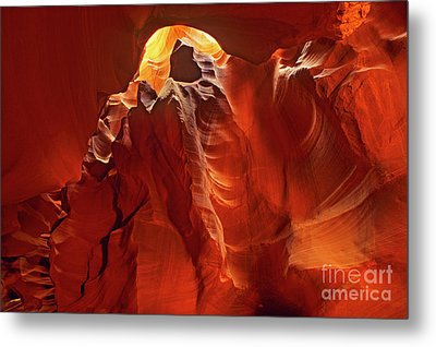 Metal Print featuring the photograph Slot Canyon Formations In Upper Antelope Canyon Arizona by Dave Welling