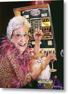 Slot Machine Queen Metal Print by Shelly Wilkerson