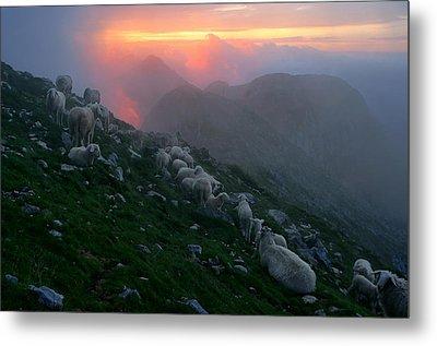 Metal Print featuring the photograph Slovenian Sunset by Graham Hawcroft pixsellpix