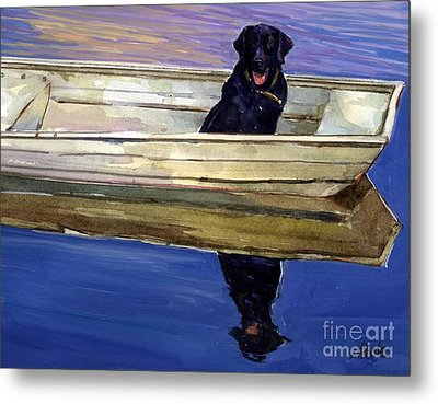 Slow Boat Metal Print by Molly Poole