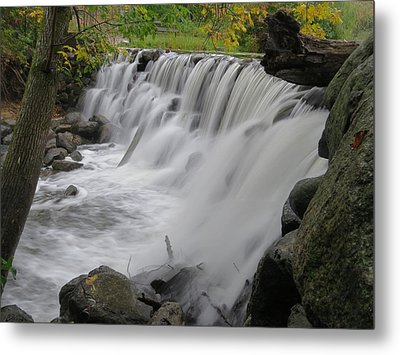 Metal Print featuring the photograph Slow Fall by Nikki McInnes