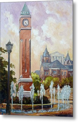 Slu Clock Tower In St.louis Metal Print by Irek Szelag